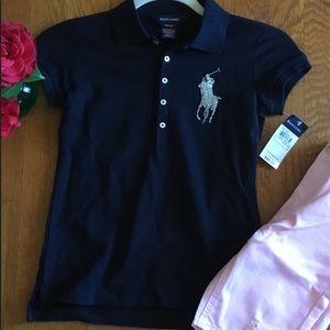 Ralph Lauren Girl's Big Pony Polo Shirt